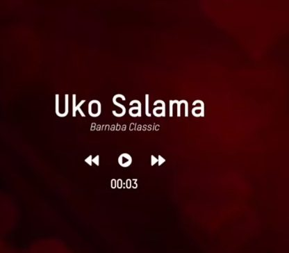 Photo of AUDIO: Barnaba – UKO SALAMA|Download mp3