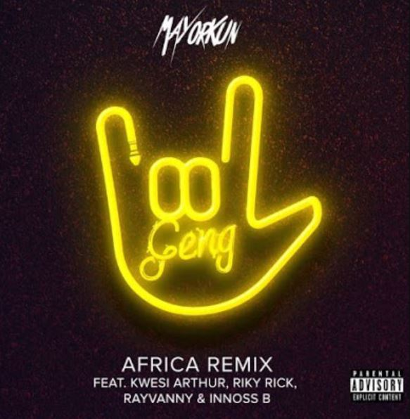 Photo of AUDIO: Mayorkun x Rayvanny, Innoss'B, Kweli Athur & Riky – Geng Remix