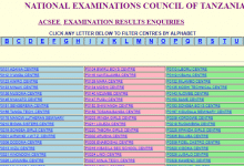 Photo of ACSEE 2020 EXAMINATION RESULTS ENQUIRIES (Form 6 Matokeo 2020/2021)